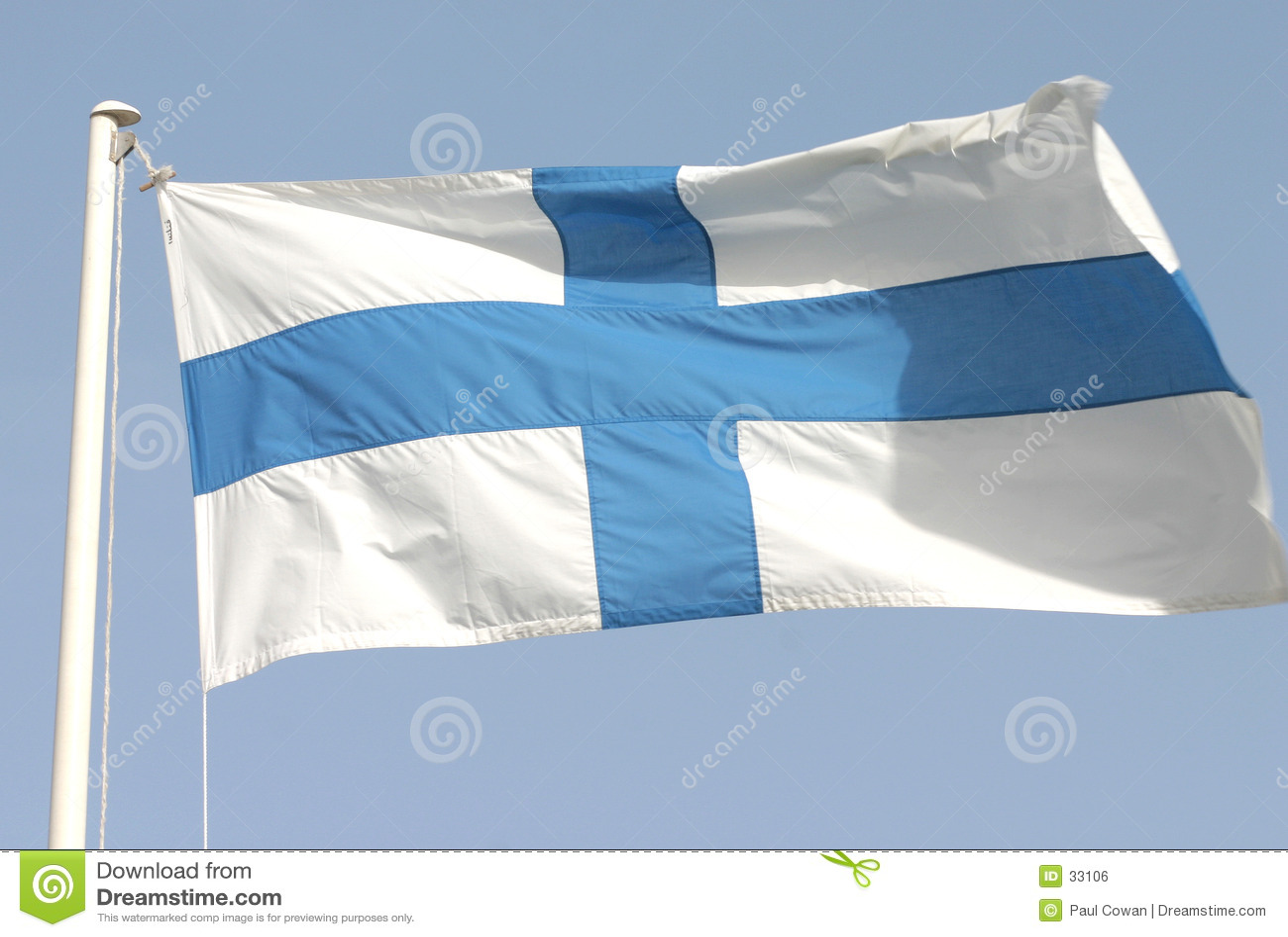 флаг s Финляндии