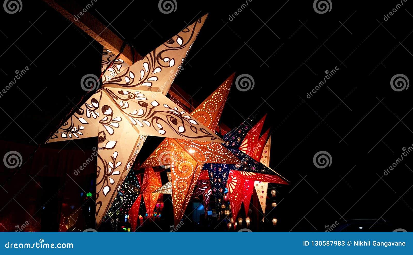 Фонарики звезды для Diwali