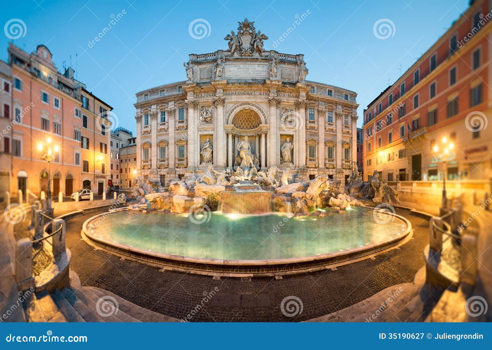 Фонтан Trevi, Рим