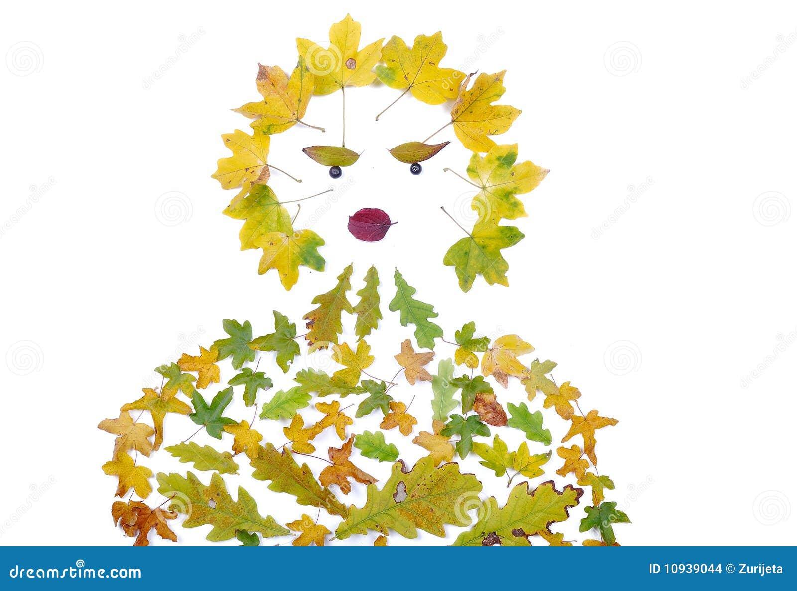 форма листьев падения деталей людская изолированная