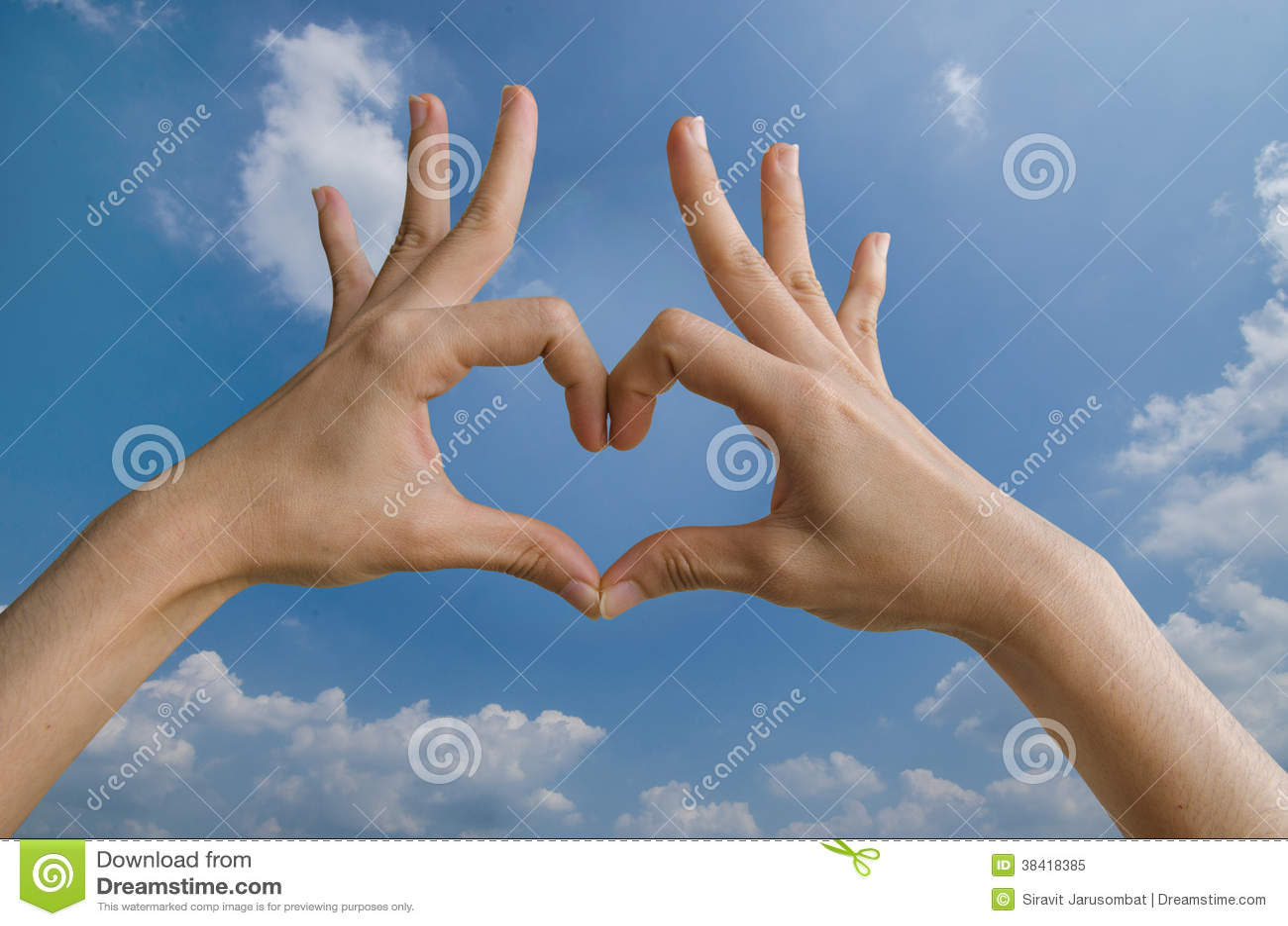 Форма сердца с рукой