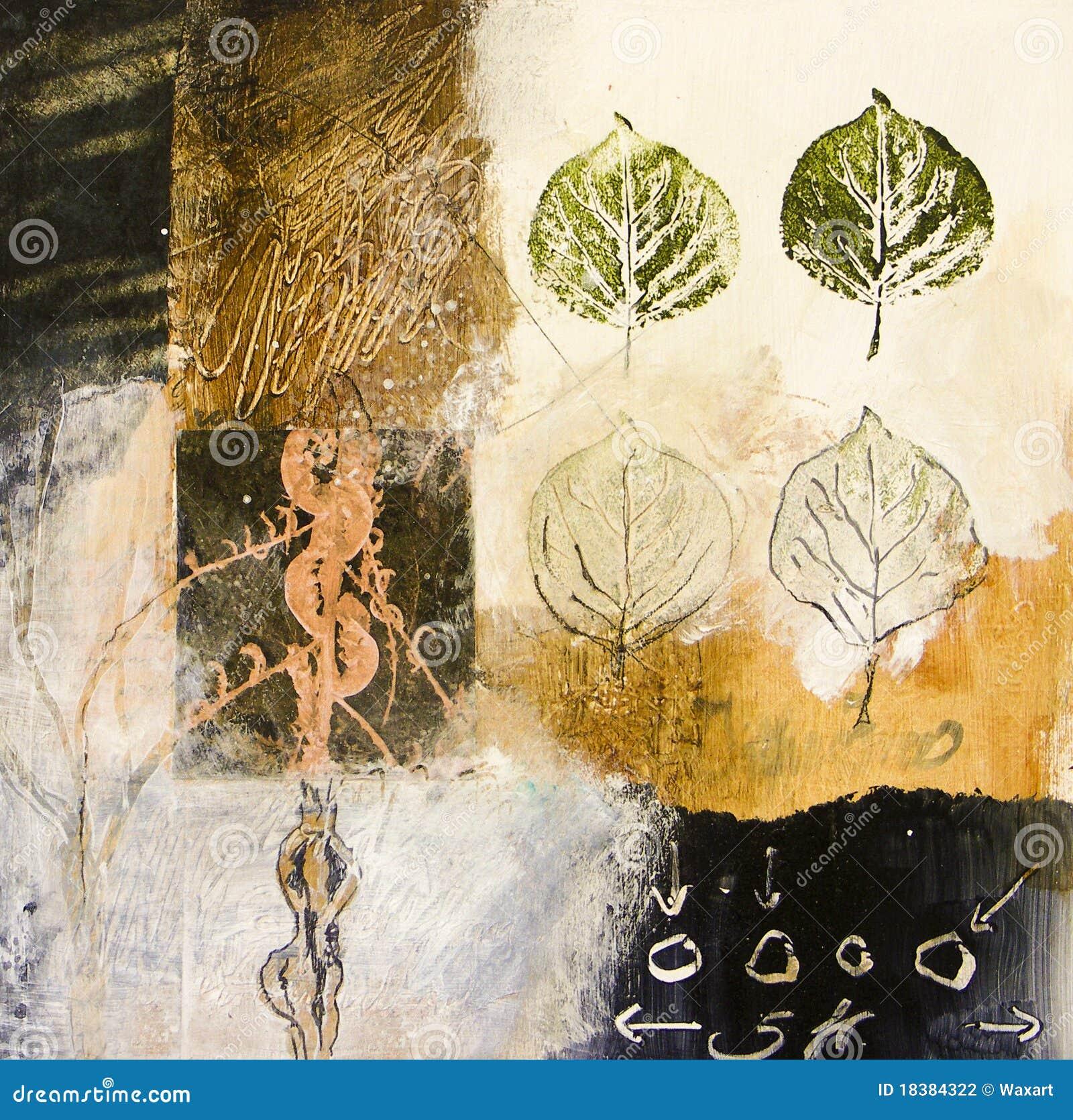 формы абстрактных средств листьев смешанные