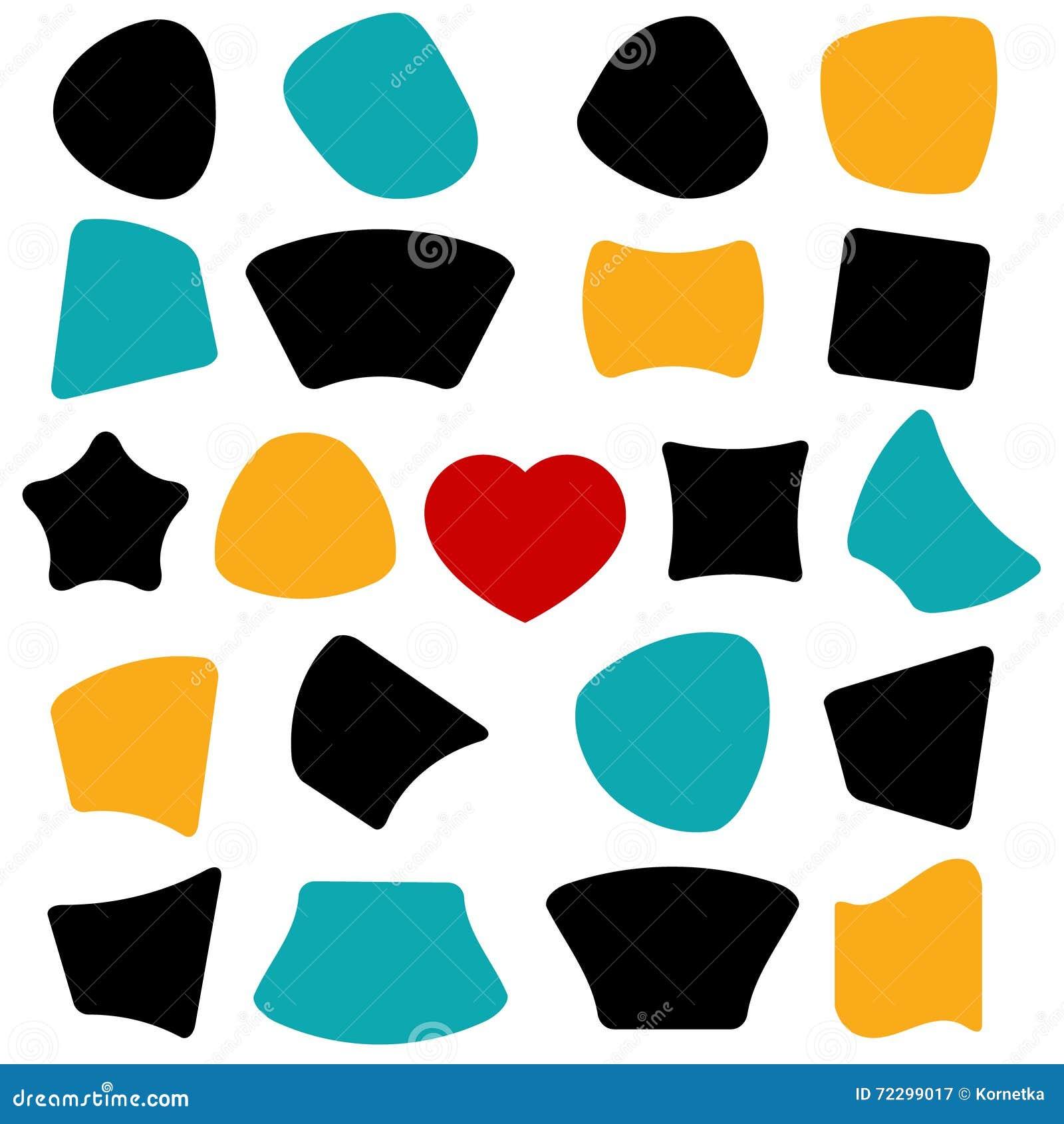 Download Формы вектора Знамя, звезда, сердце, круг Иллюстрация вектора - иллюстрации насчитывающей ярлык, форма: 72299017