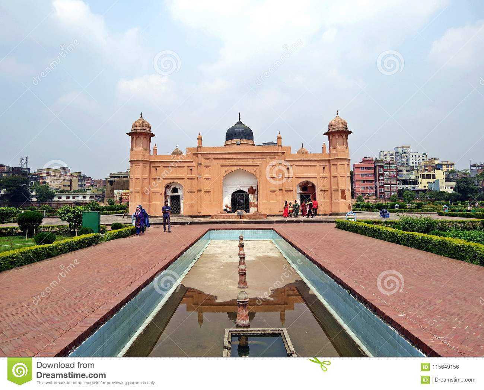 Форт Lalbagh в старом городке Дакке, Бангладеше