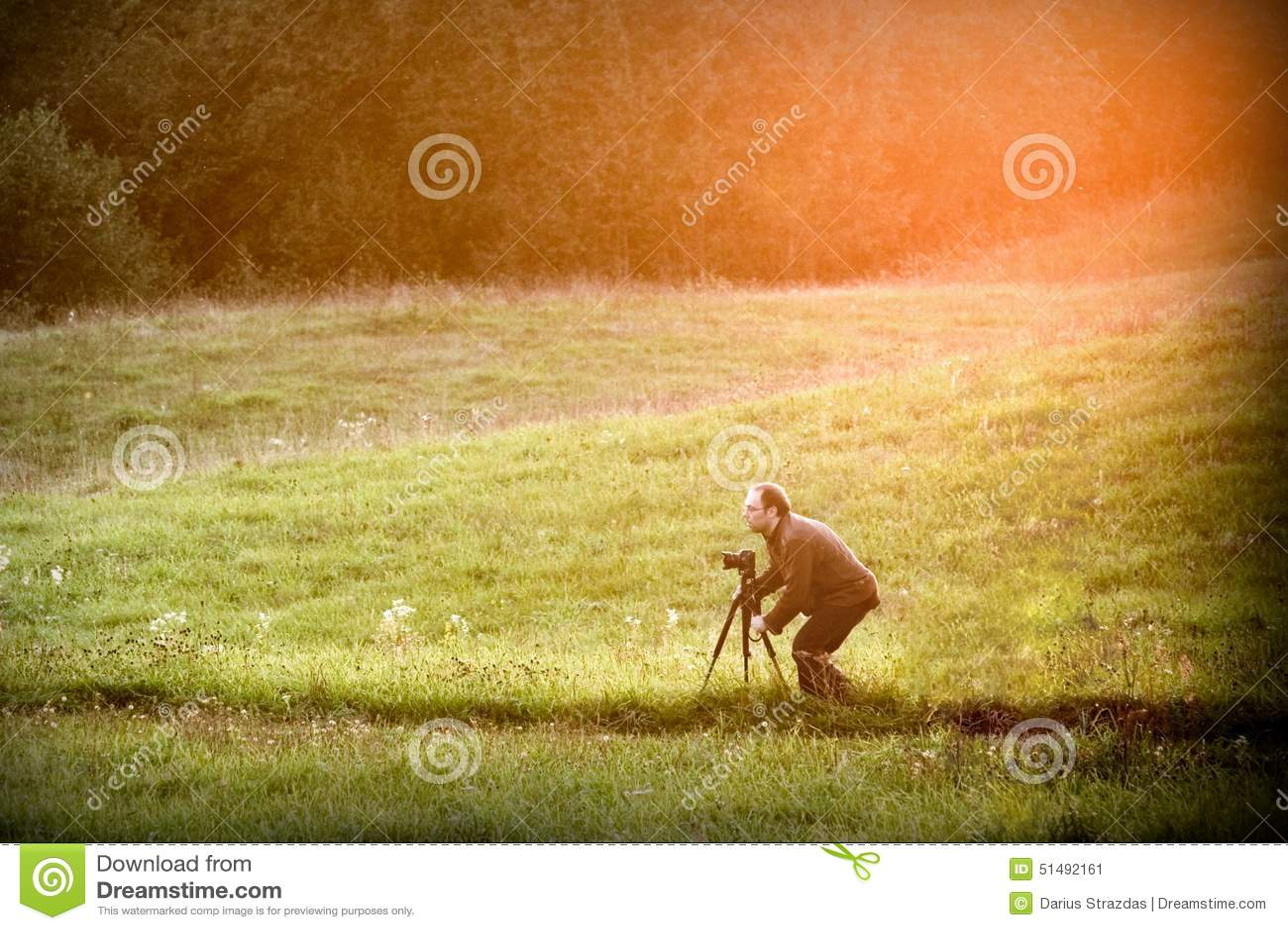 Фотограф в природе