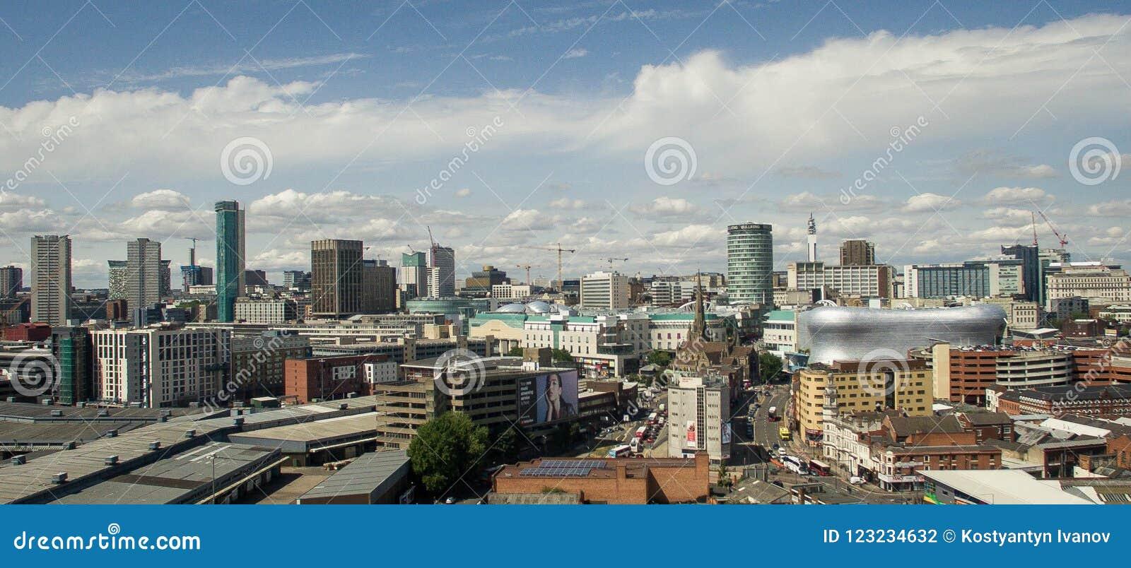 Фото Бирмингема, Великобритании сделало трутнем
