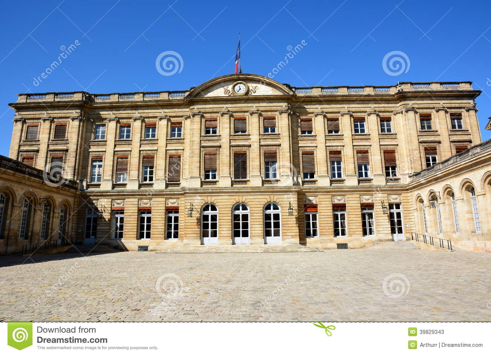 Франция, Aqutaine, Бордо, здание муниципалитет