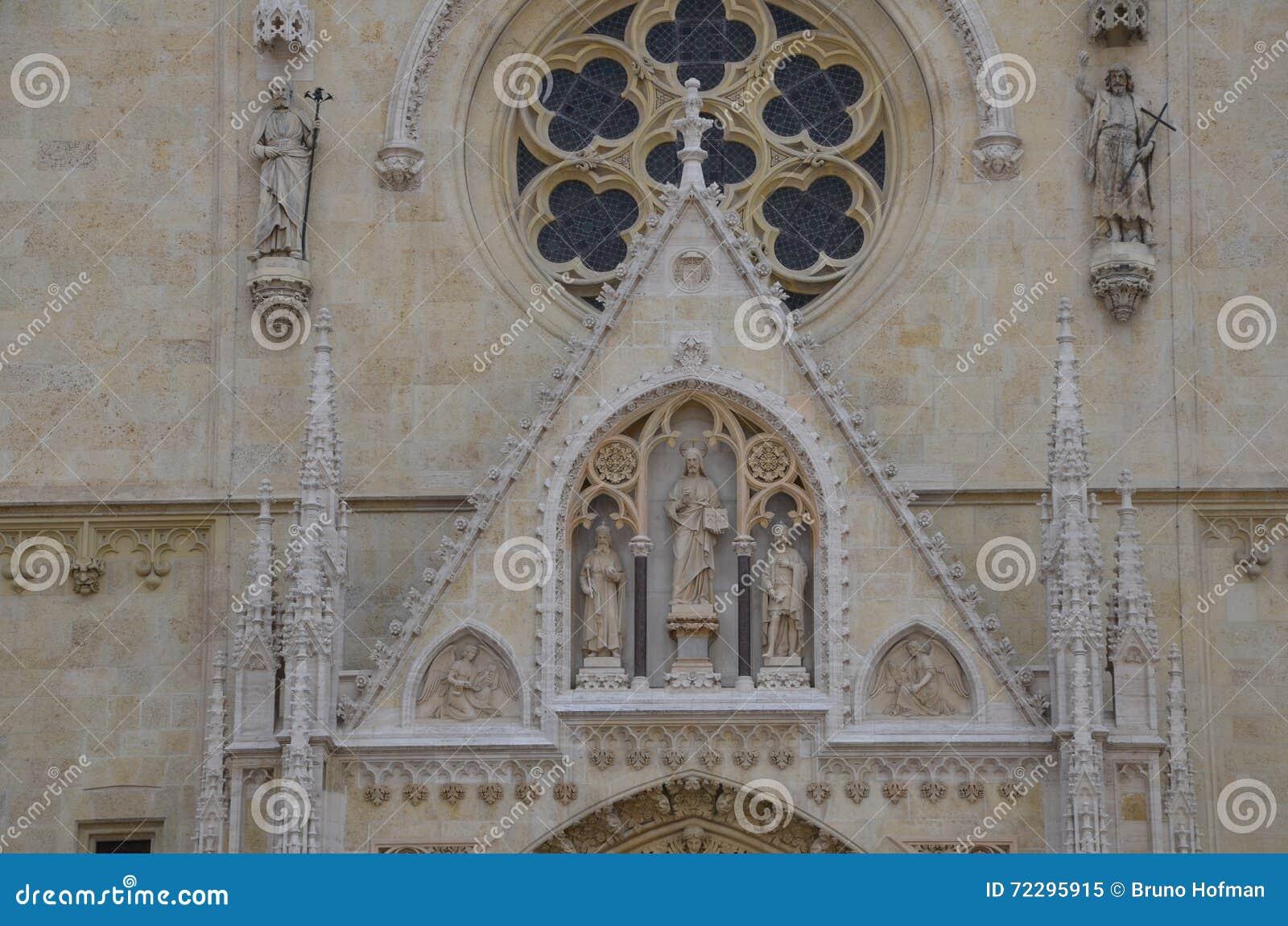 Download Фронт собора Загреба стоковое изображение. изображение насчитывающей alric - 72295915