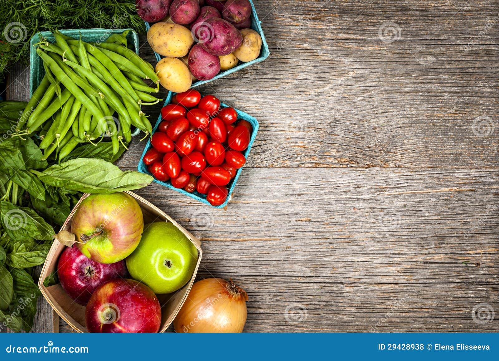 Фрукты и овощи свежего рынка