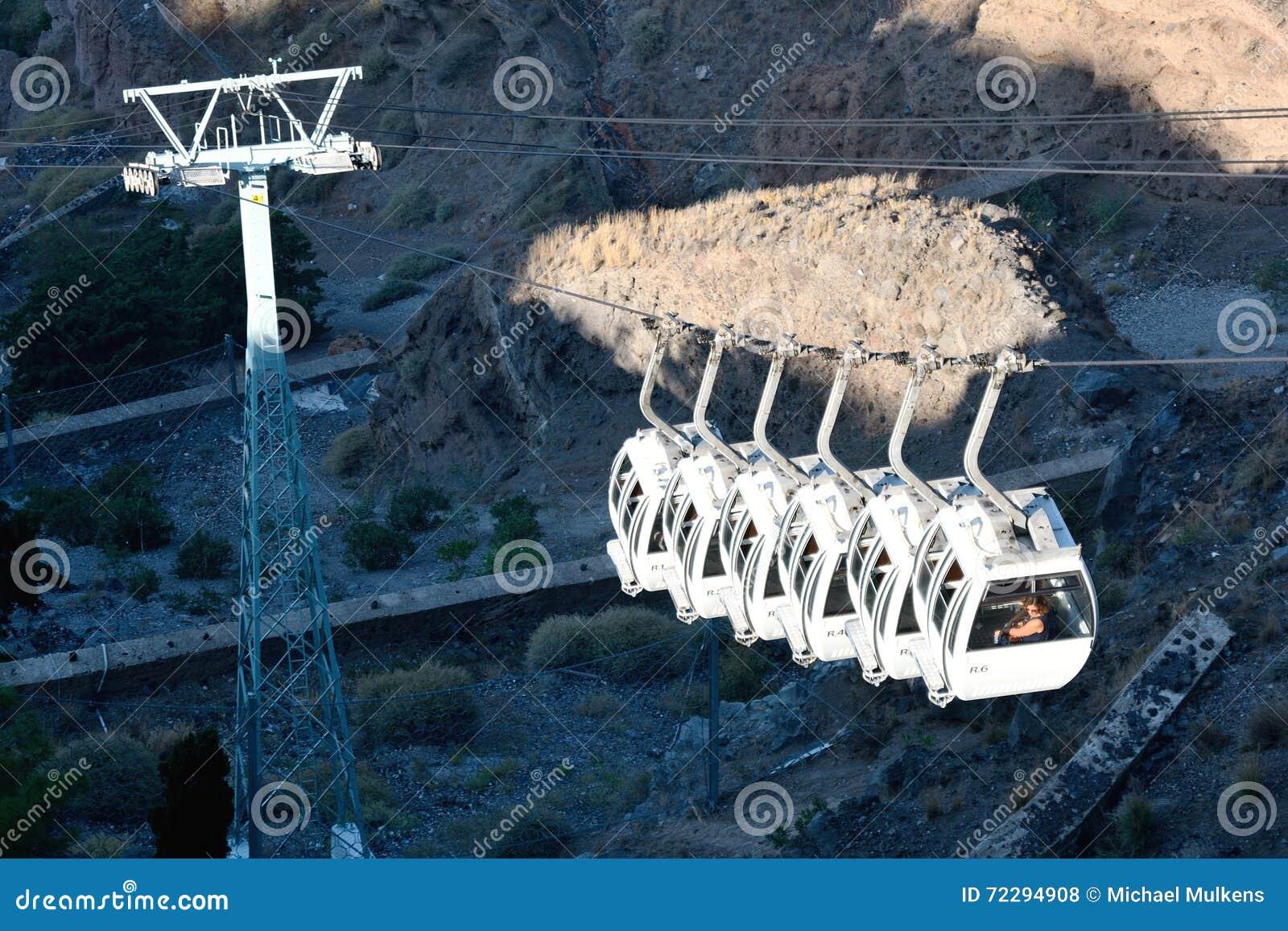 Download Фуникулер в городке Fira, Santorini, Греции Редакционное Стоковое Фото - изображение насчитывающей над, греческо: 72294908