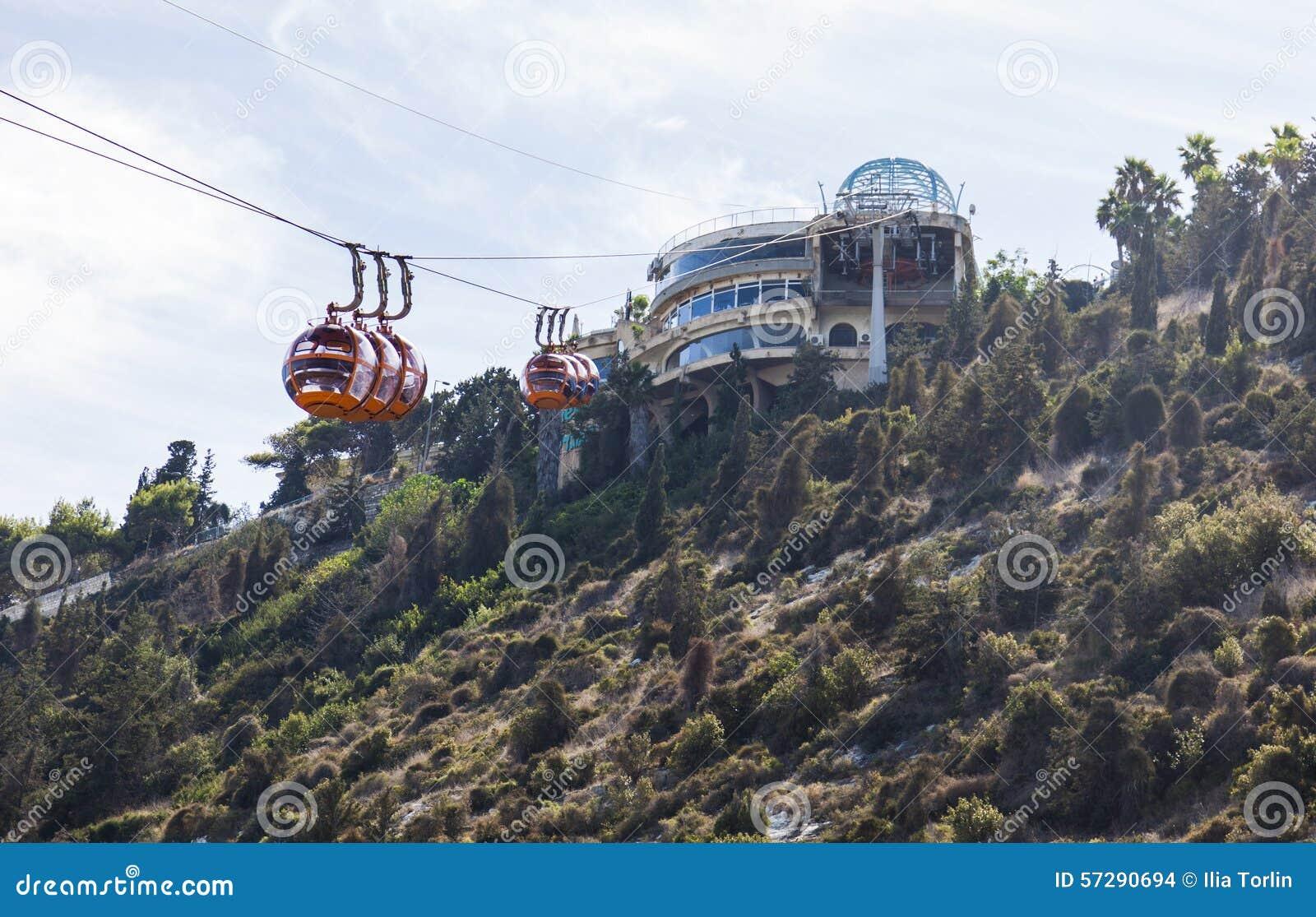 Фуникулер Mount Carmel haifa Израиль