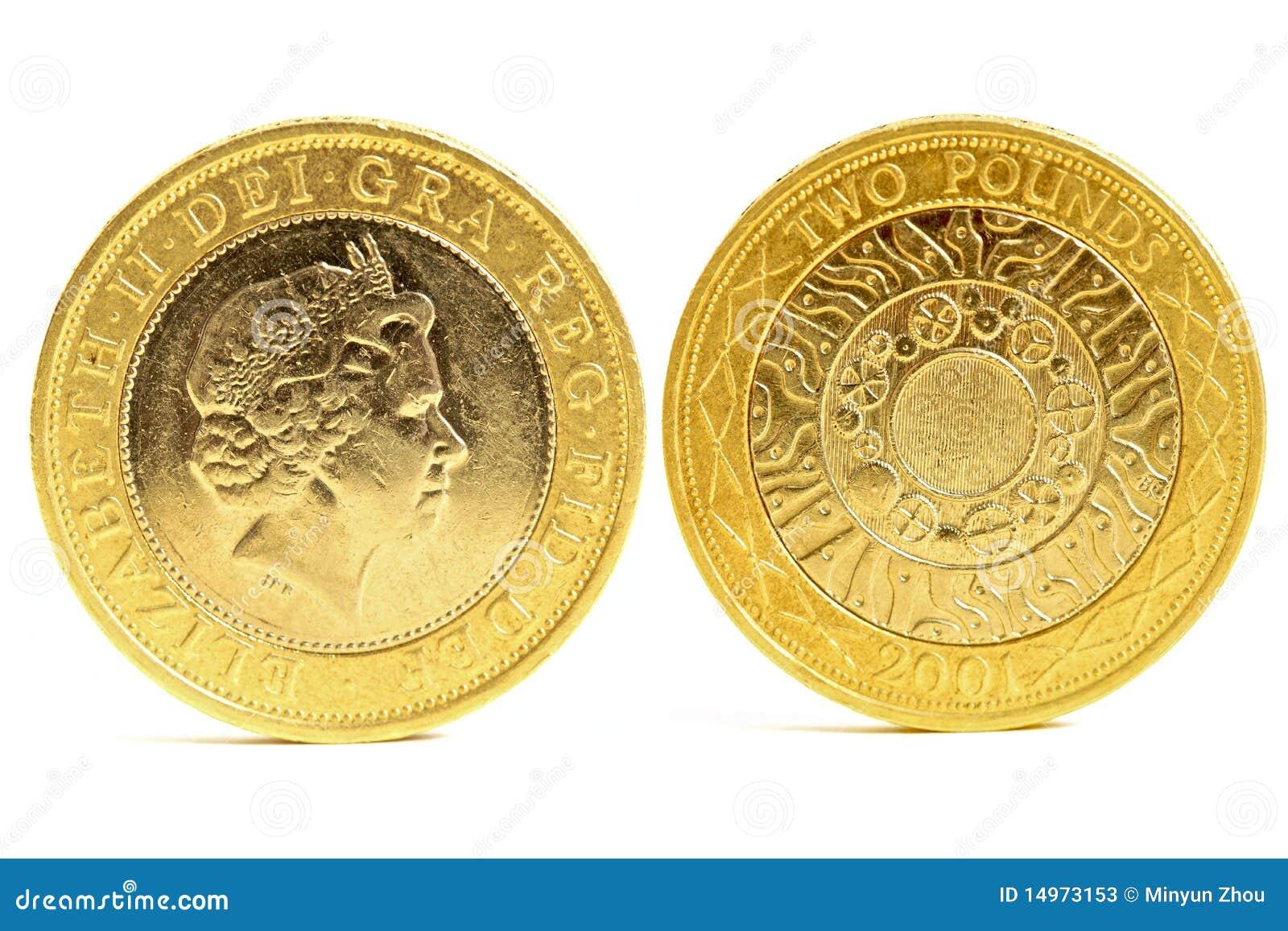 фунт 2 монеток