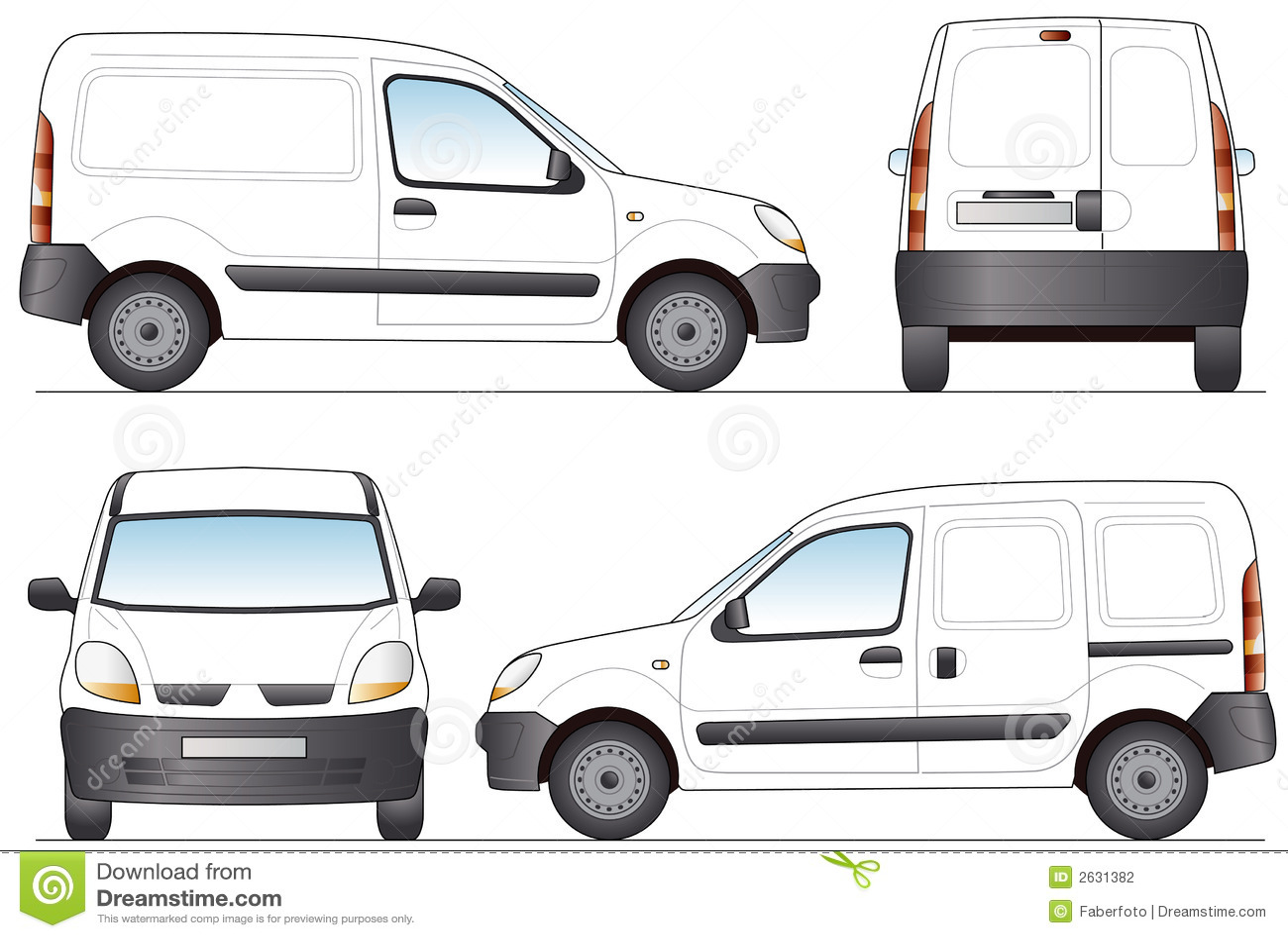 фургон поставки