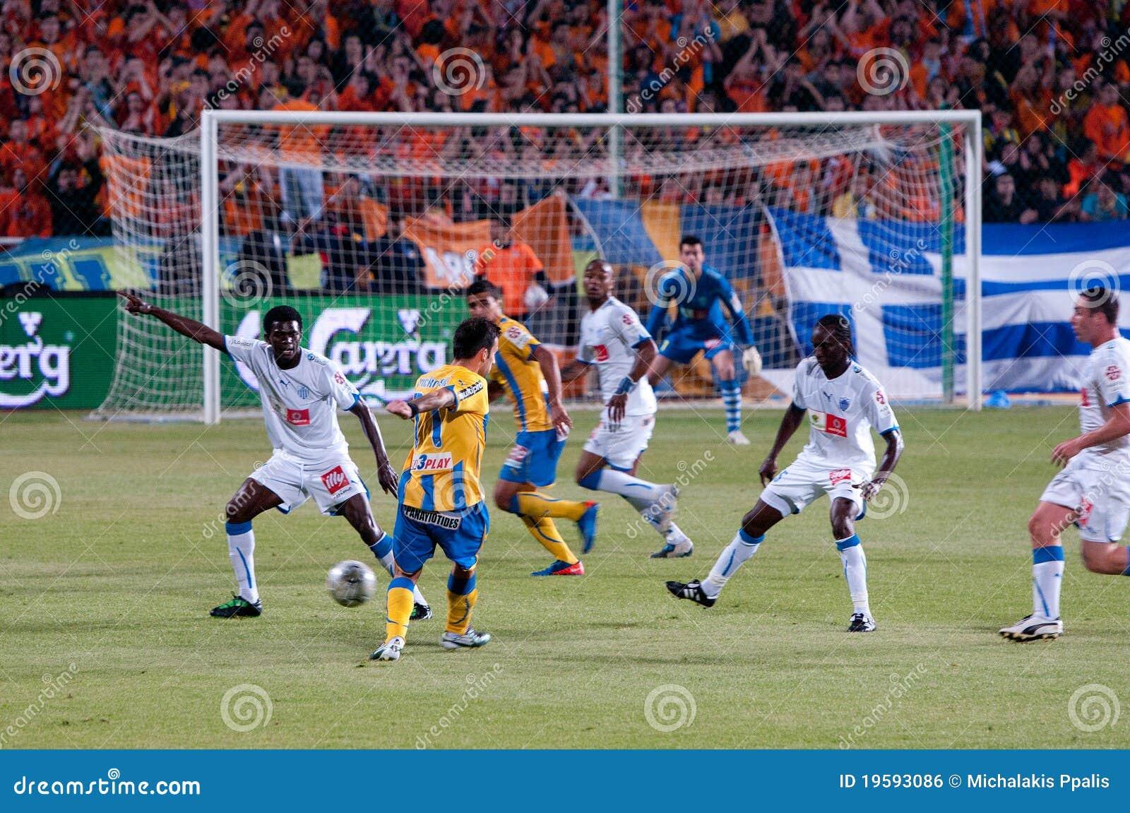 футбольная игра Кипра apoel anorthosis agains