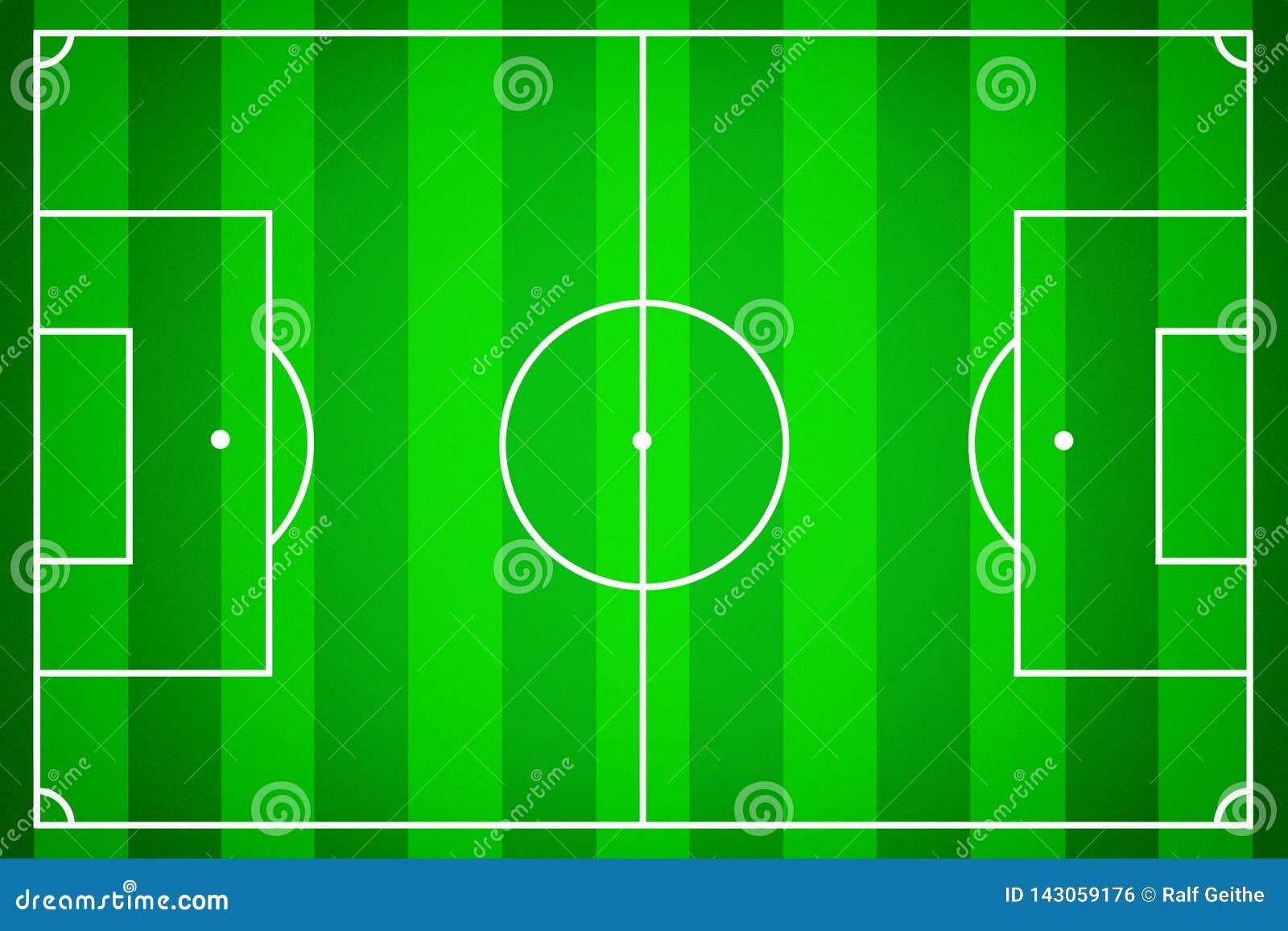 Футбольное поле как шаблон для футбола