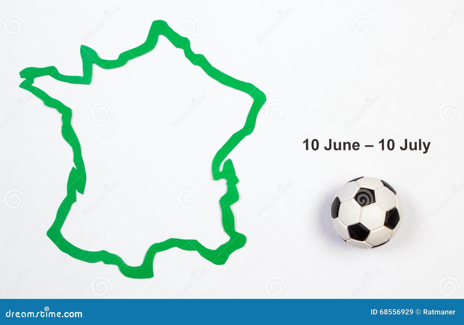 Футбольный мяч и контур Франция Стоковое Изображение - изображение ... 422a590e7eb