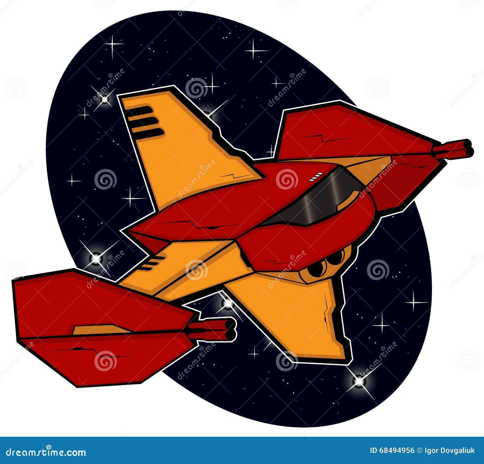 Футуристическое starship боя