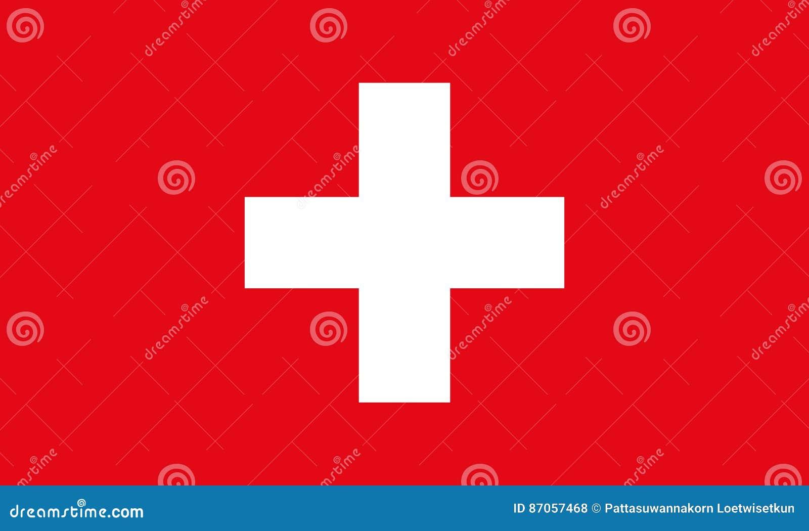 флаг Швейцария Предпосылка вектора флага Швейцарии