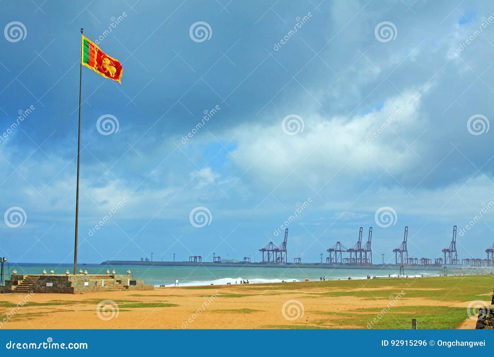 Флаг Шри-Ланки и гавань