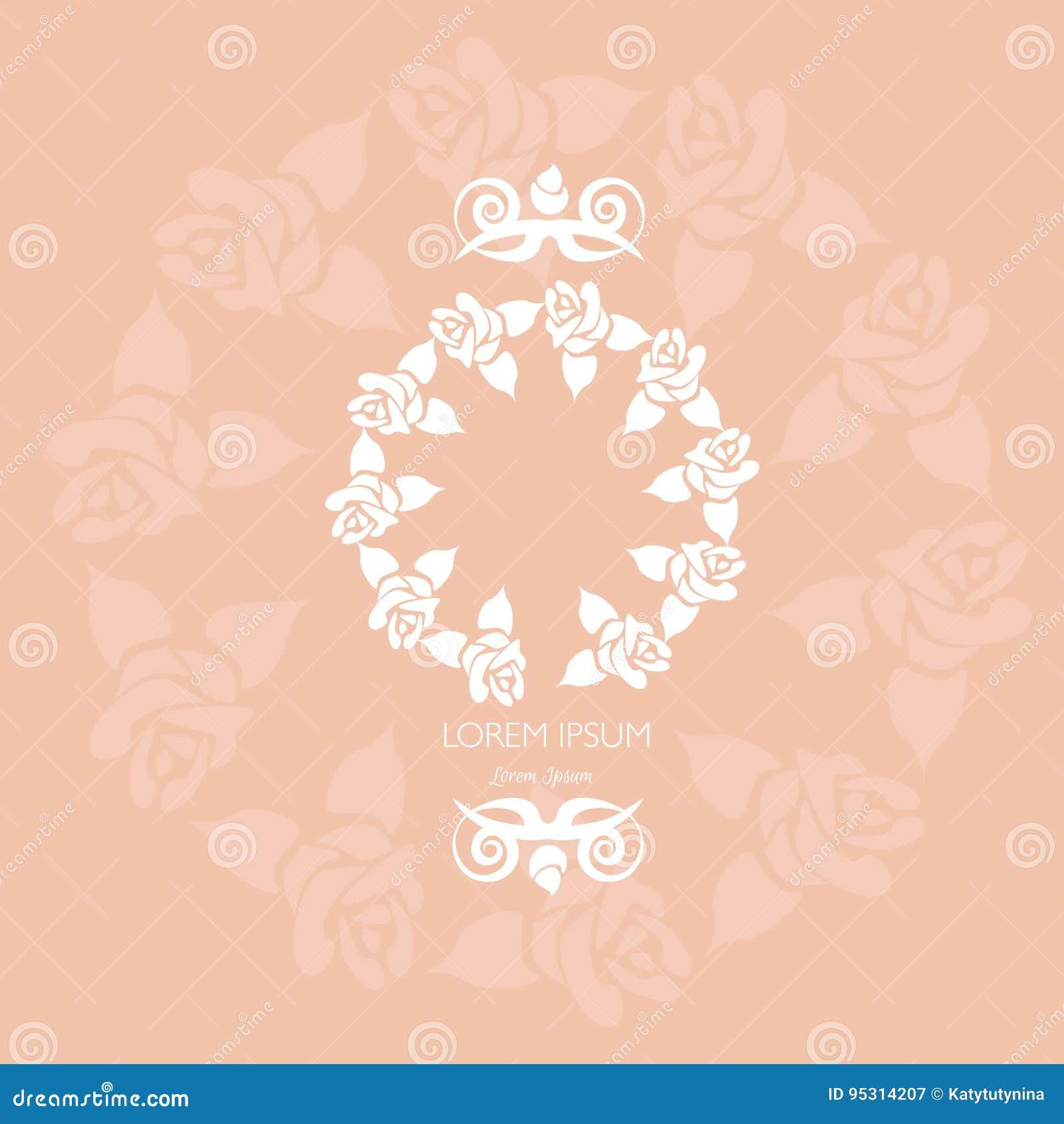 Флористическая рамка сделанная в векторе