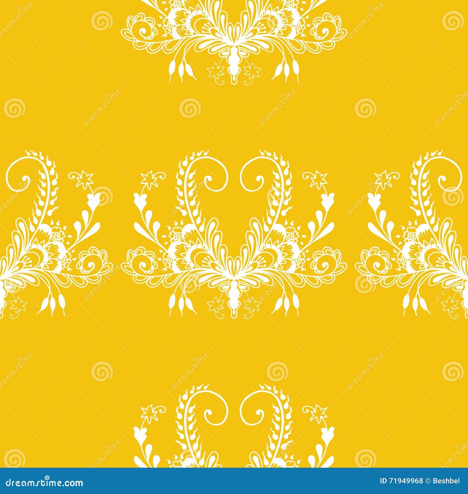 Флористическое безшовное золото орнамента