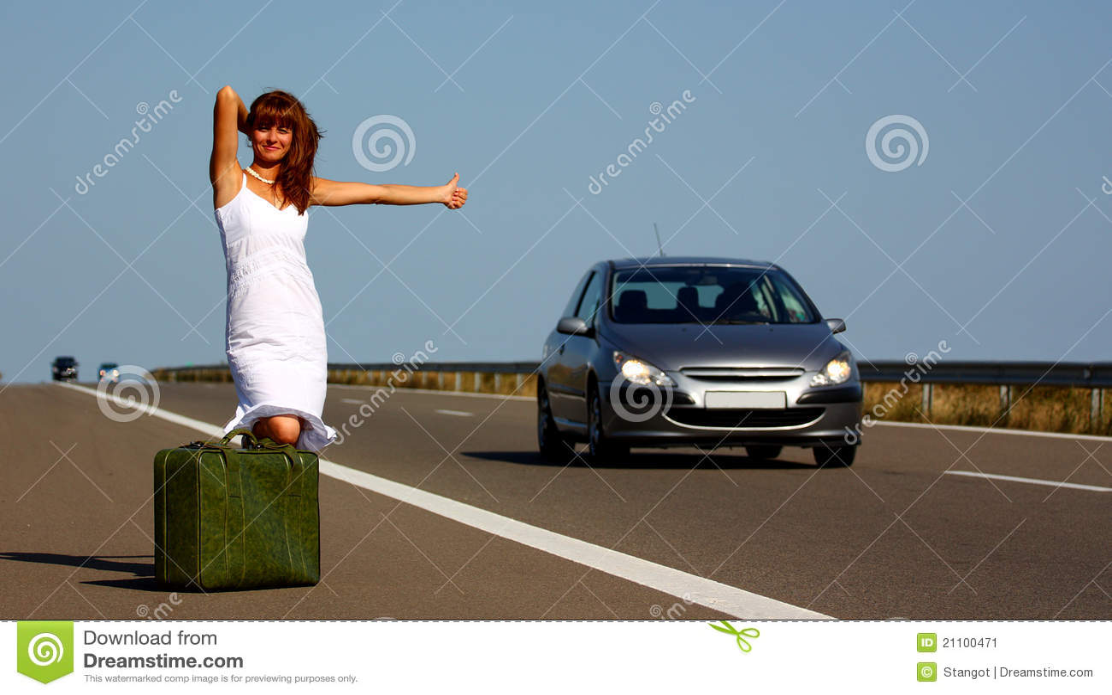 хайвей hitchhiking женщина