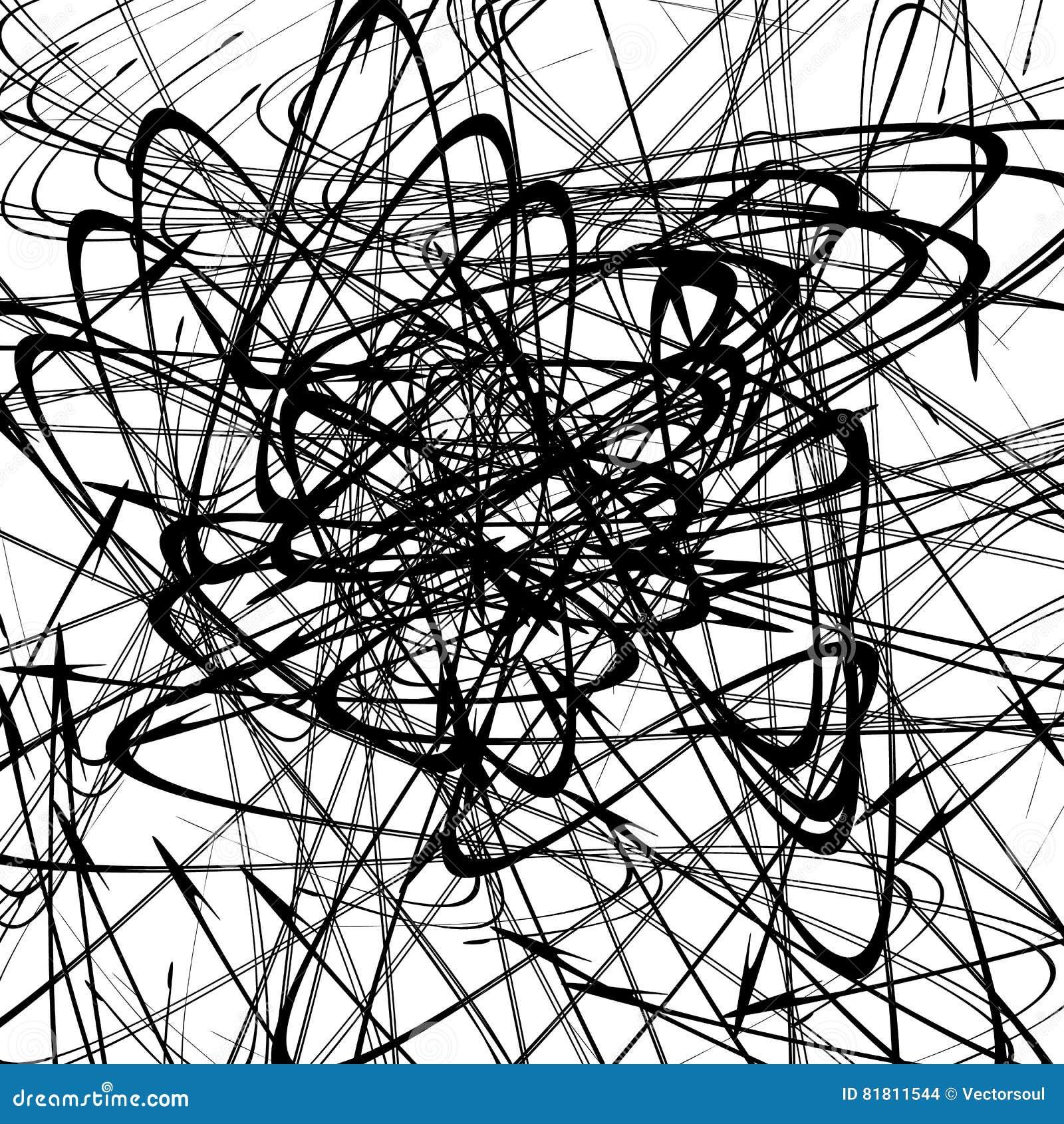 Хаотические случайные изогнутые линии Абстрактная художническая картина, backgrou
