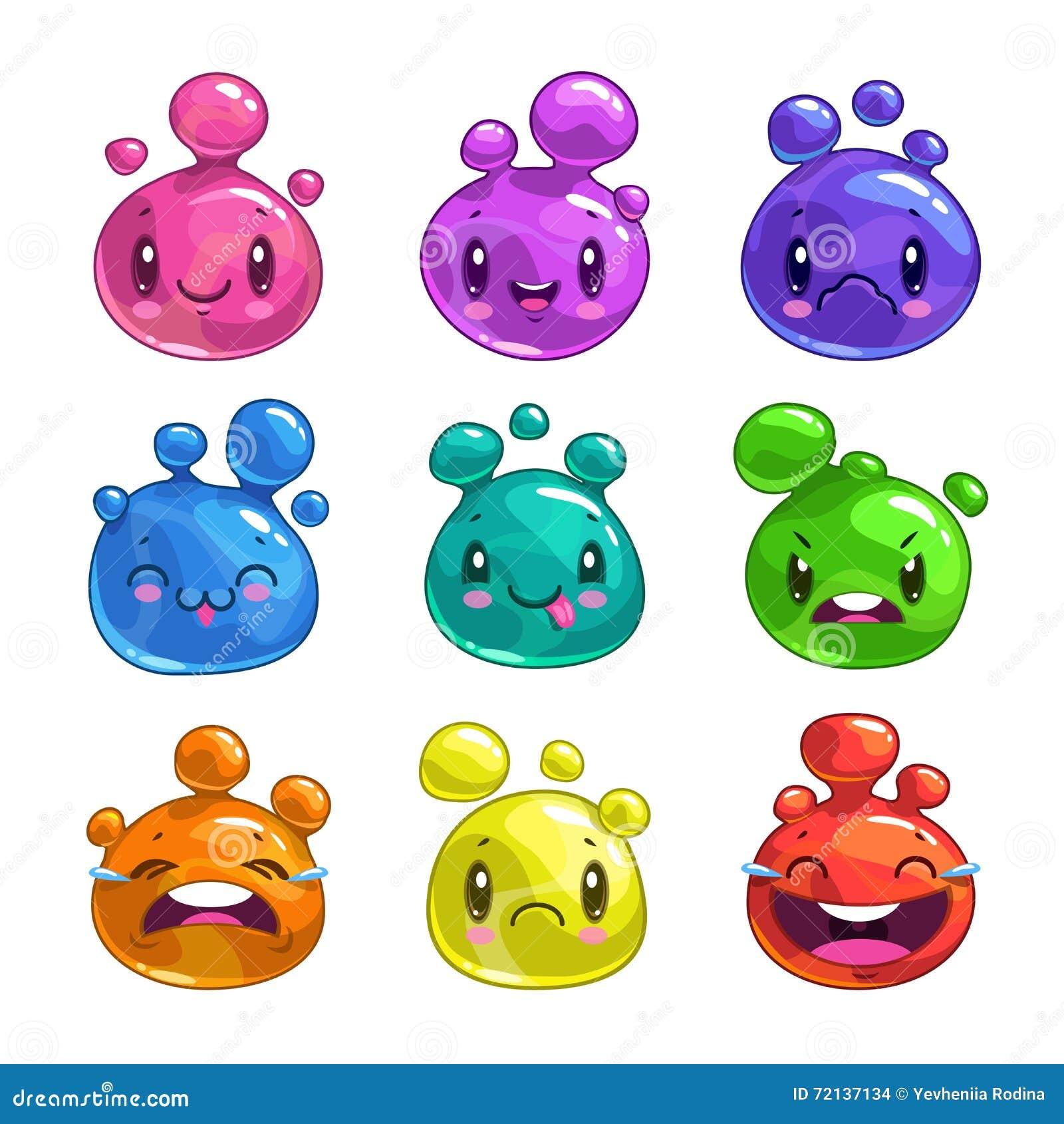 Характеры пузыря смешного шаржа красочные маленькие