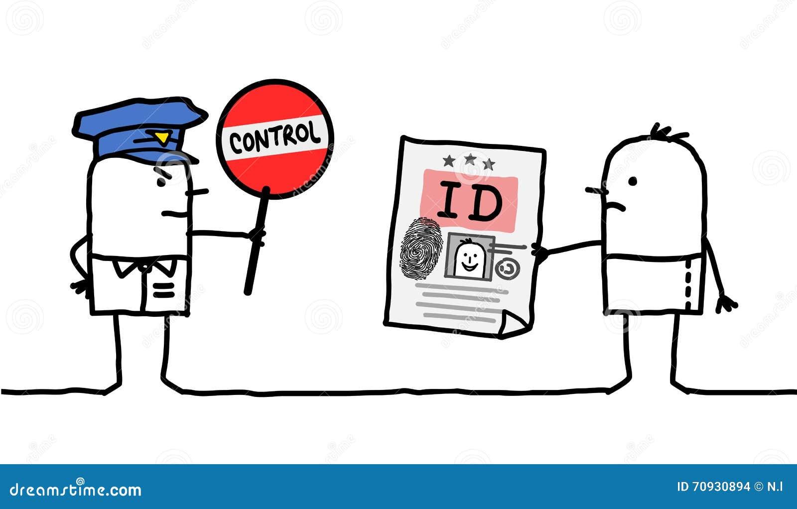 Характеры - управление полиции - идентичность