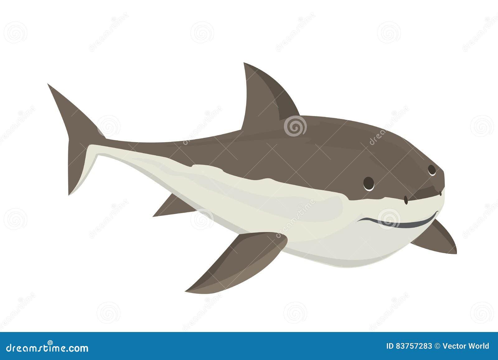 Характер акулы вектора