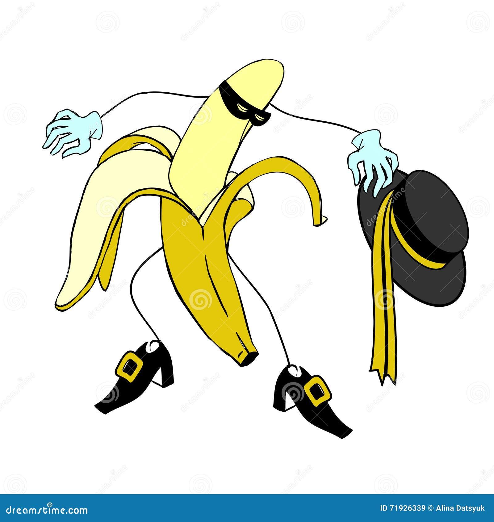 Характер банана Zorro и шаржа