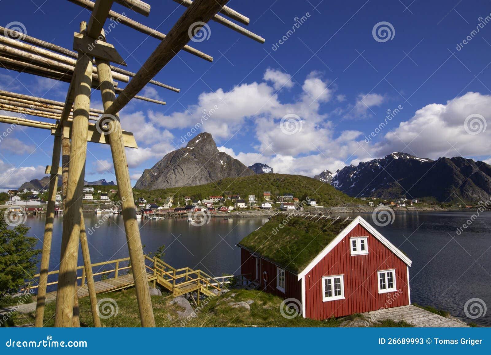 Хата рыболовства на Lofoten