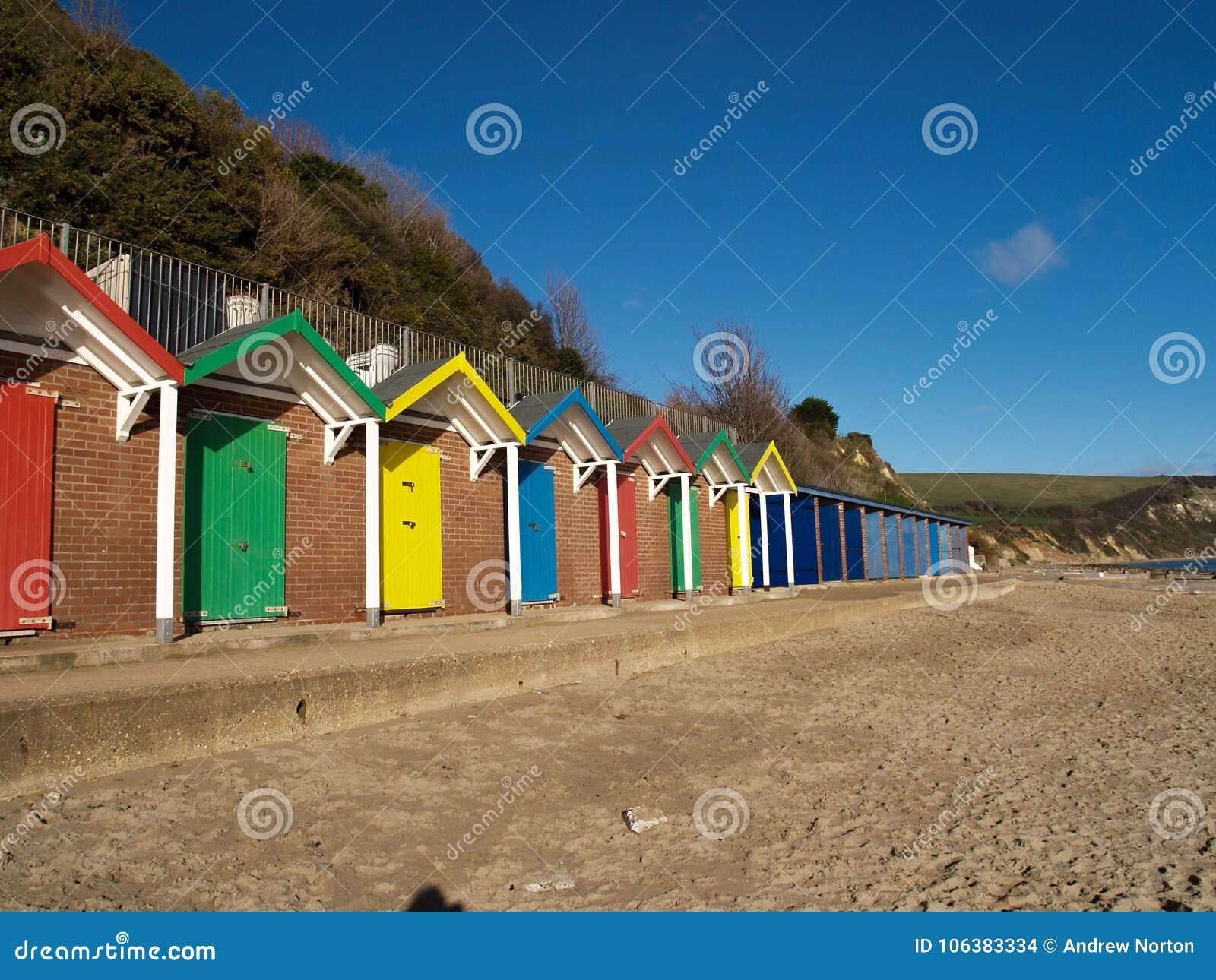 Хаты пляжа Суонси