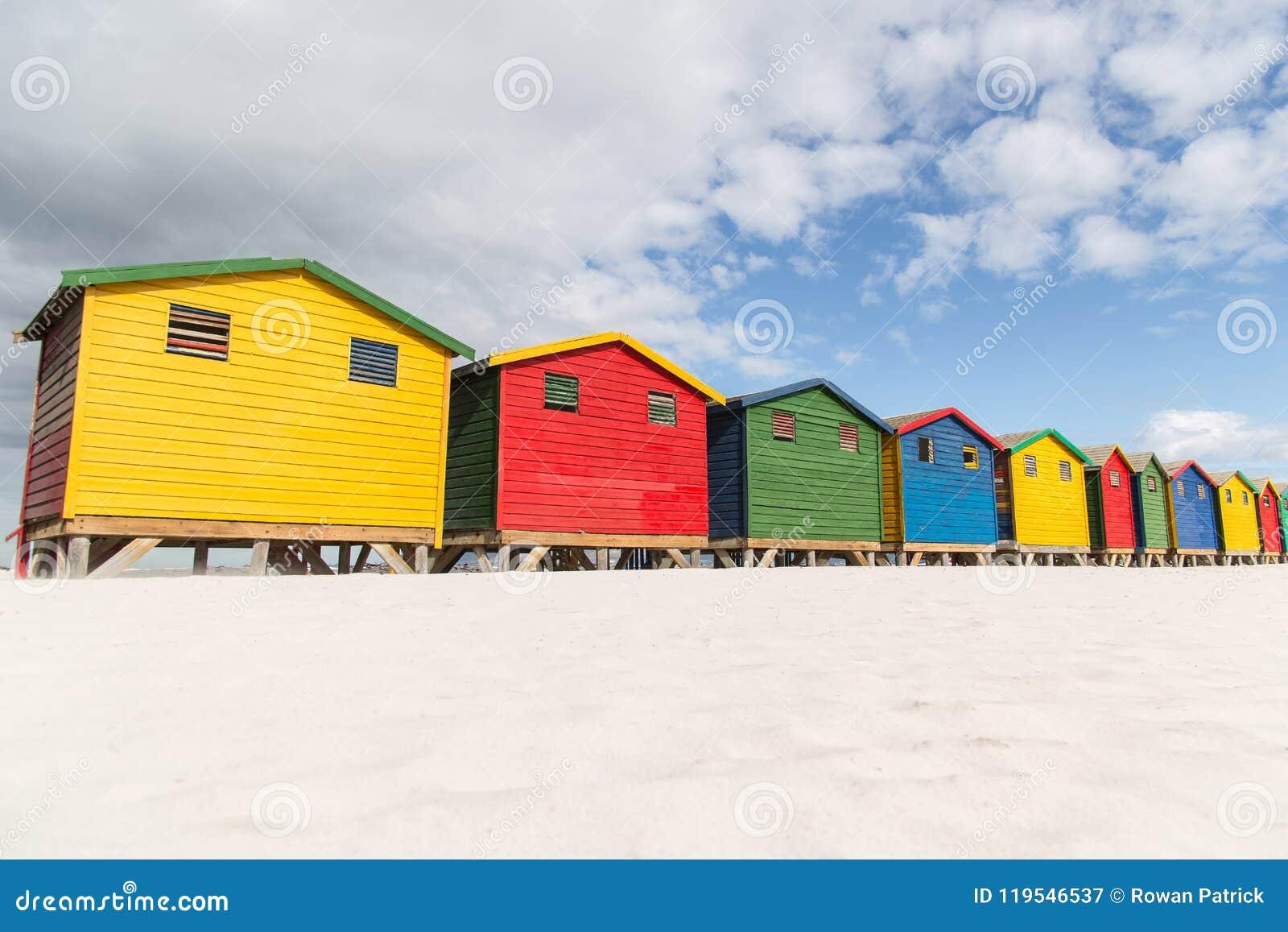 Хаты пляжа Muizenberg