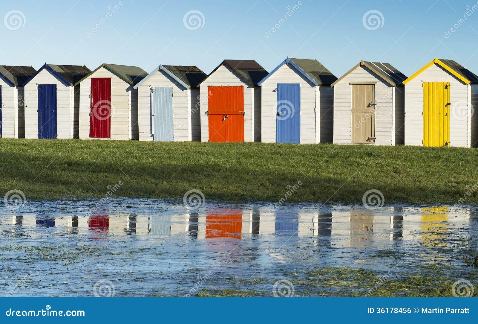 Хаты пляжа на Goodrington