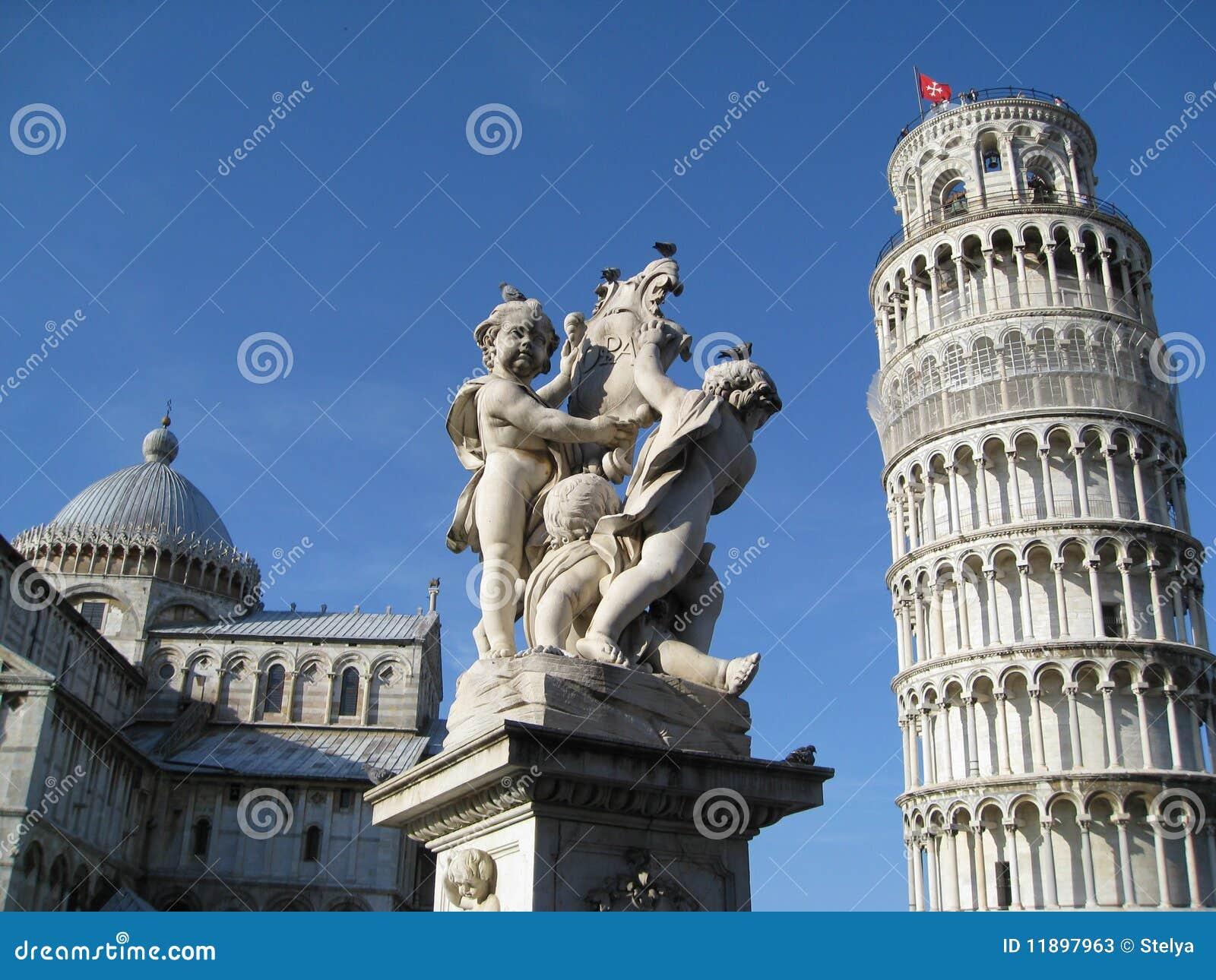 херувимы собора полагаясь башня pisa