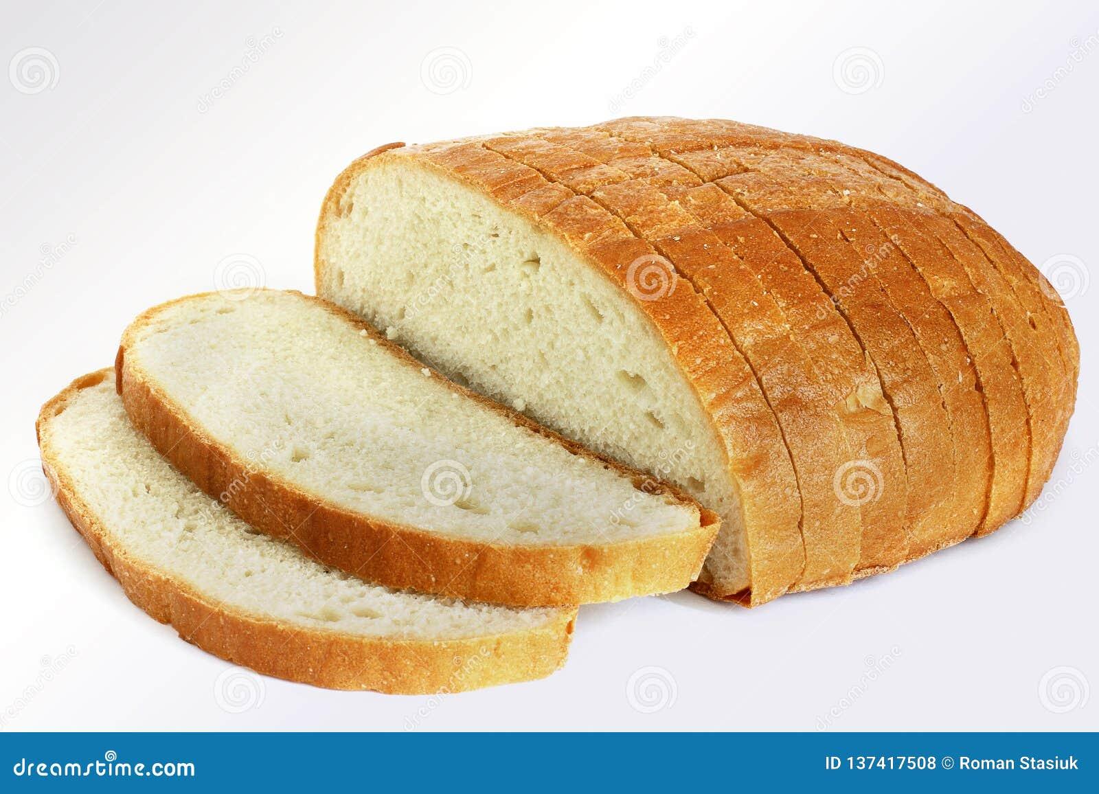Хлеб на белой предпосылке