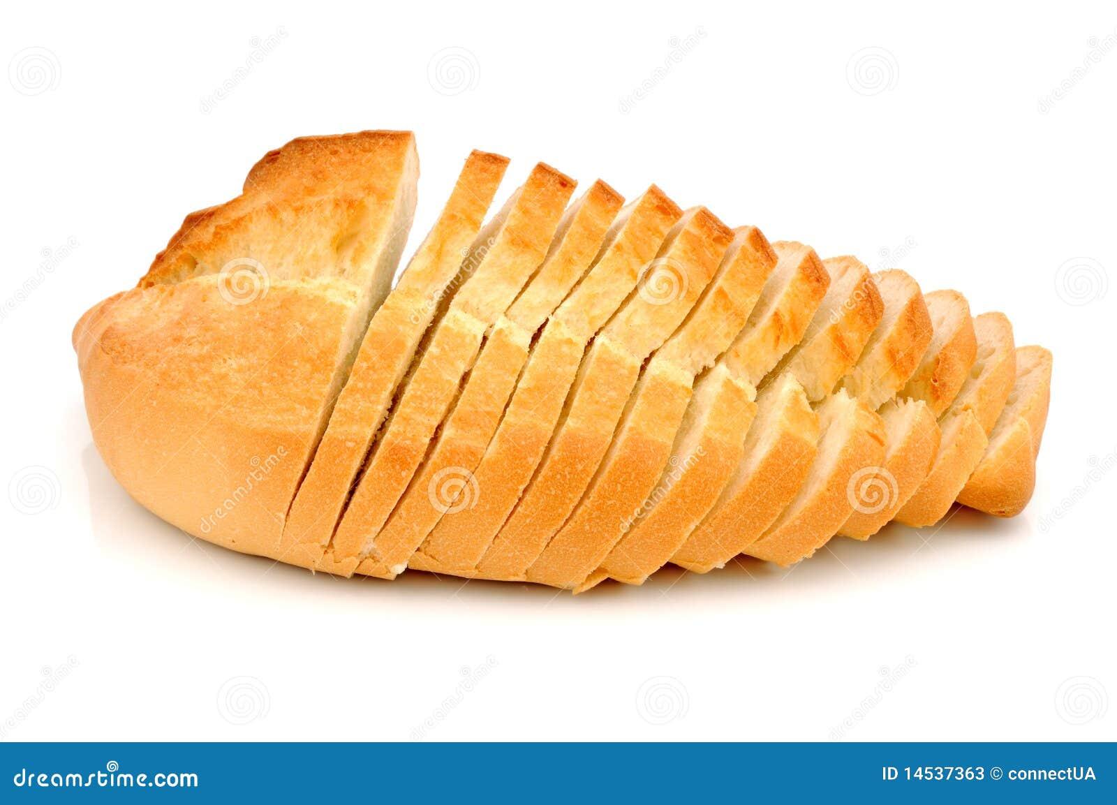 хлеб отрезает белизну