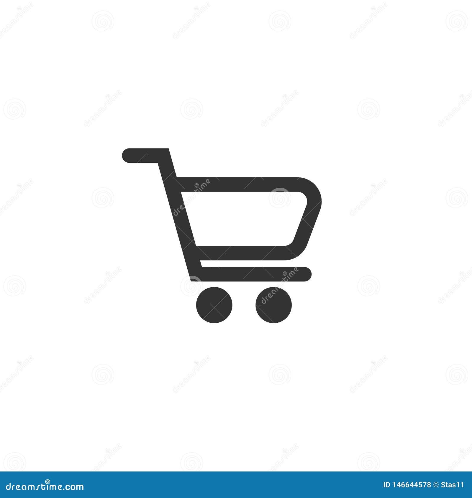 Ходя по магазинам значок диаграммы в простом дизайне r