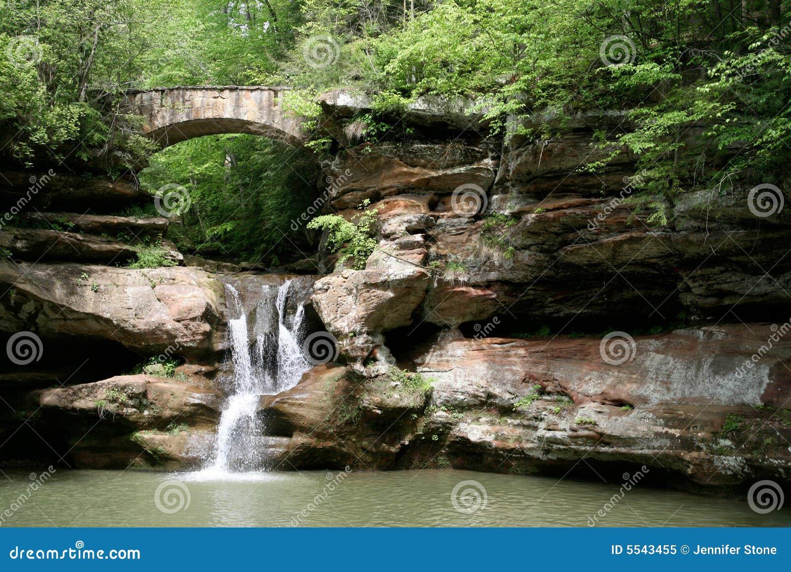 холмы hocking водопад