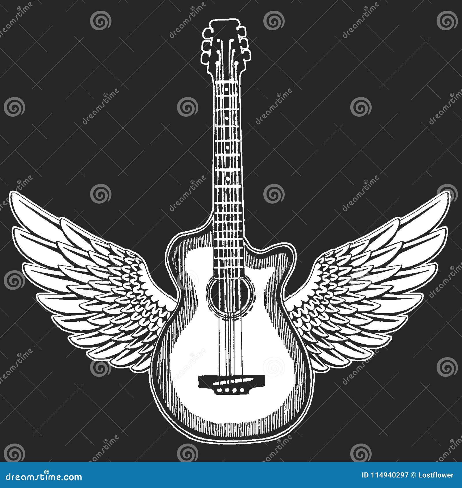 холодная гитара Эмблема утеса для музыкального фестиваля Тяжелый концерт metall Печать футболки, плакат саксофон части аппаратуры