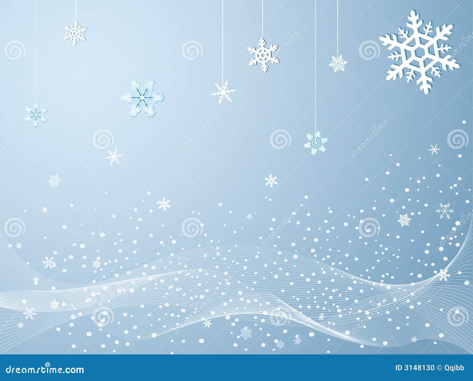 холодная зима снежинок