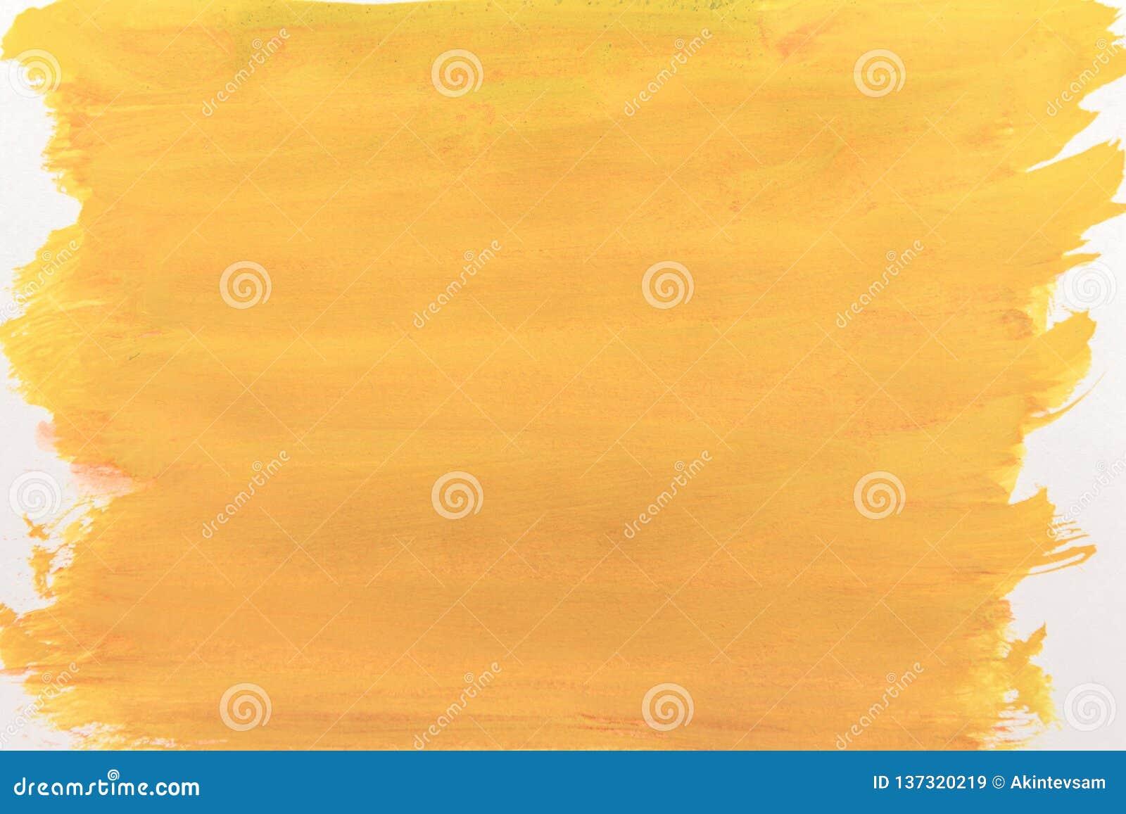 Холст покрытый с яркой желтой краской абстракция