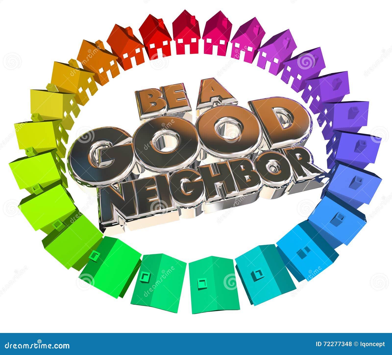 Download Хорошая община домов домов соседа Иллюстрация штока - иллюстрации насчитывающей социально, соседско: 72277348