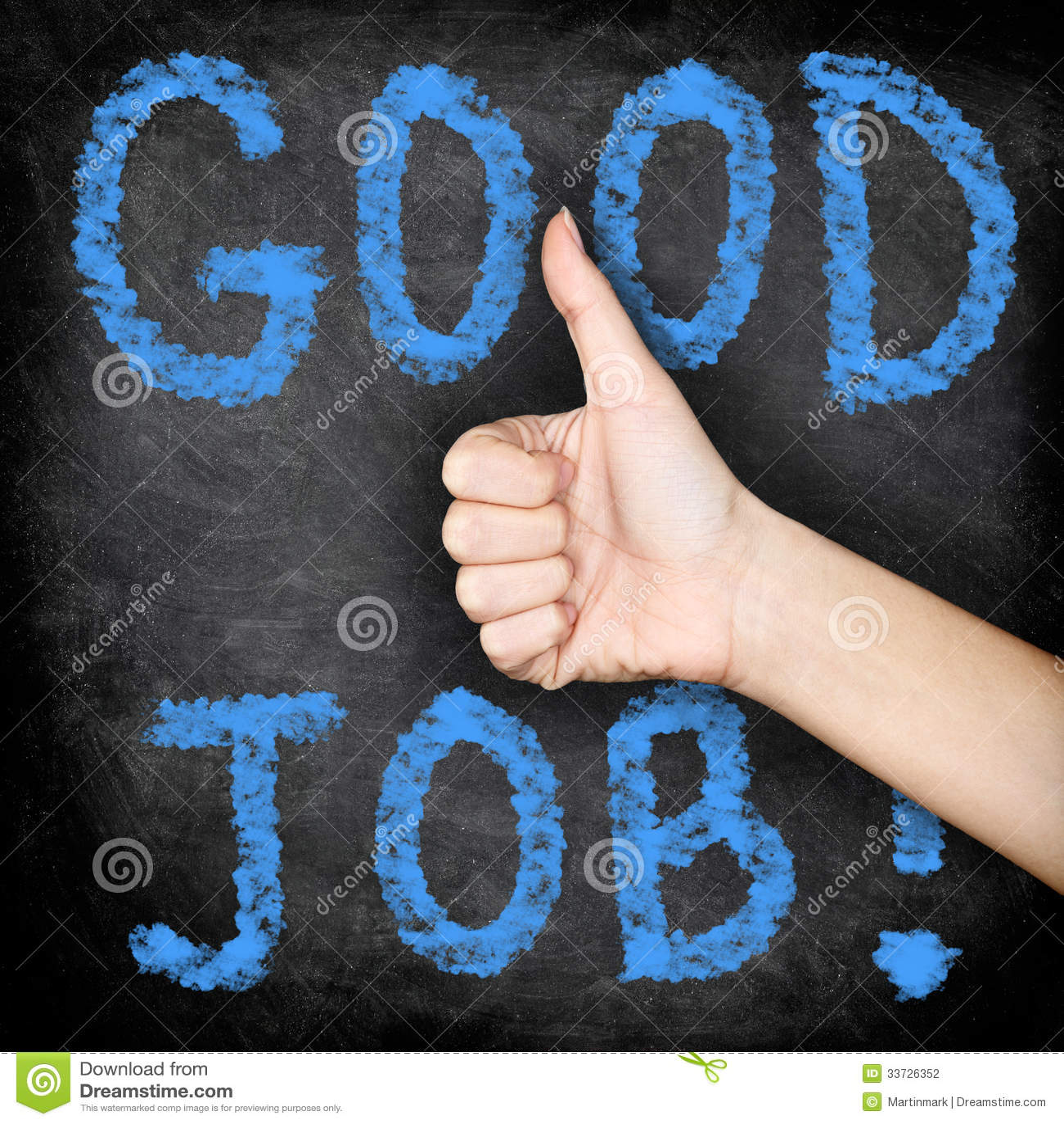 Хорошая работа - большие пальцы руки поднимают классн классный