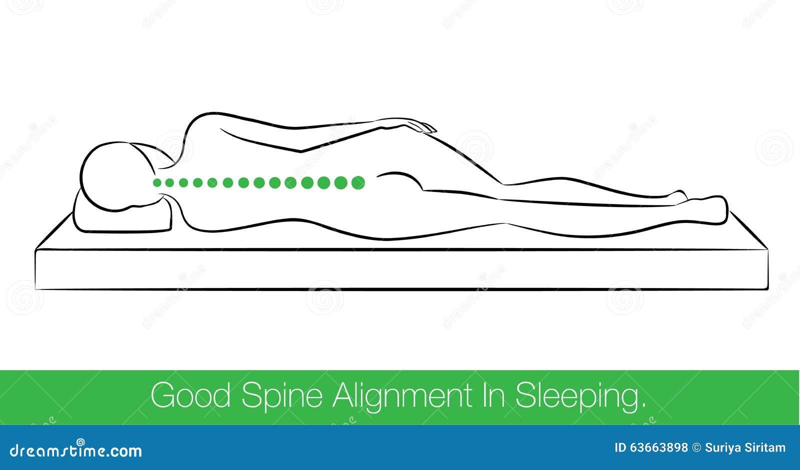 Хорошее выравнивание позвоночника в спать