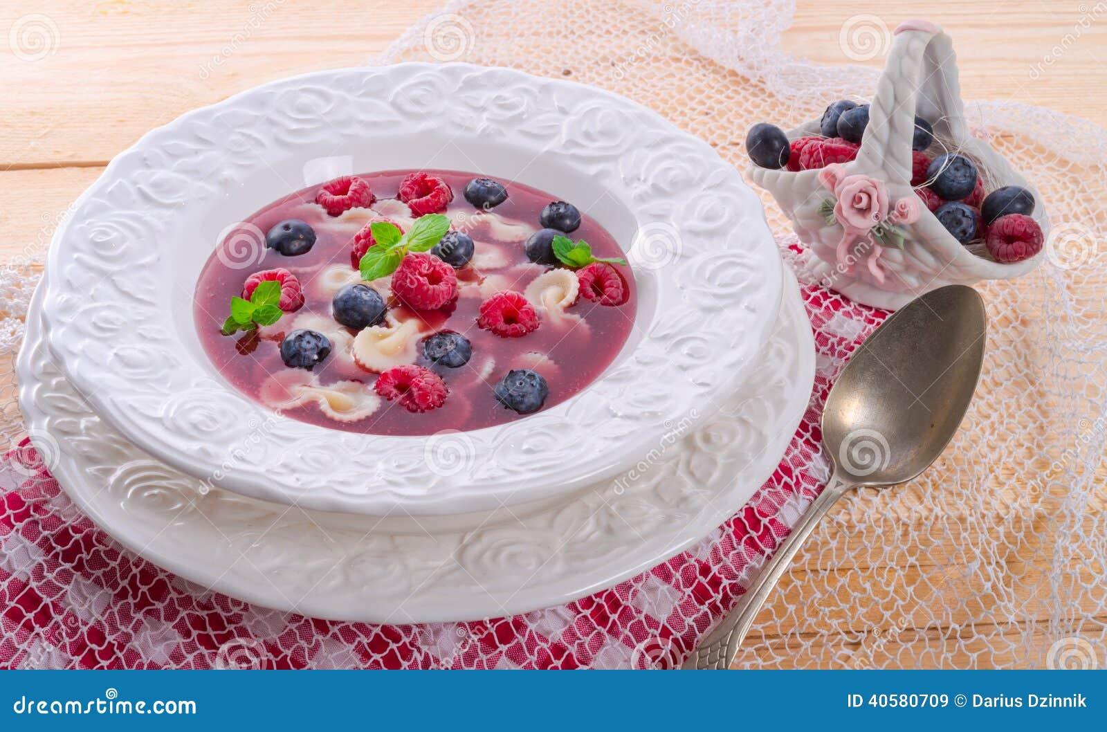 Холодный суп плодоовощ