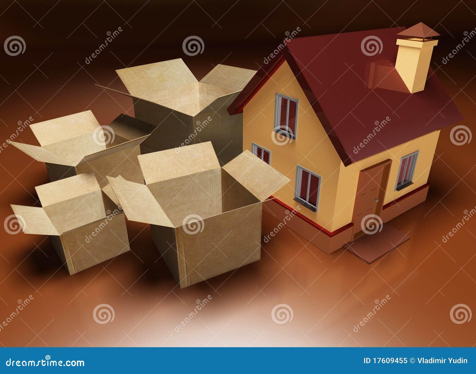 хранение упаковки дома moving следующее к