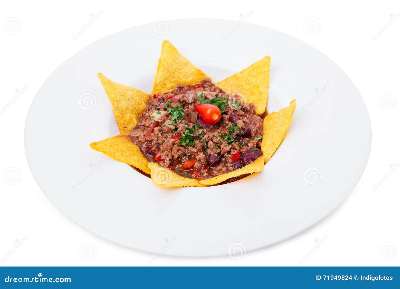 Хрустящие nachos говядины