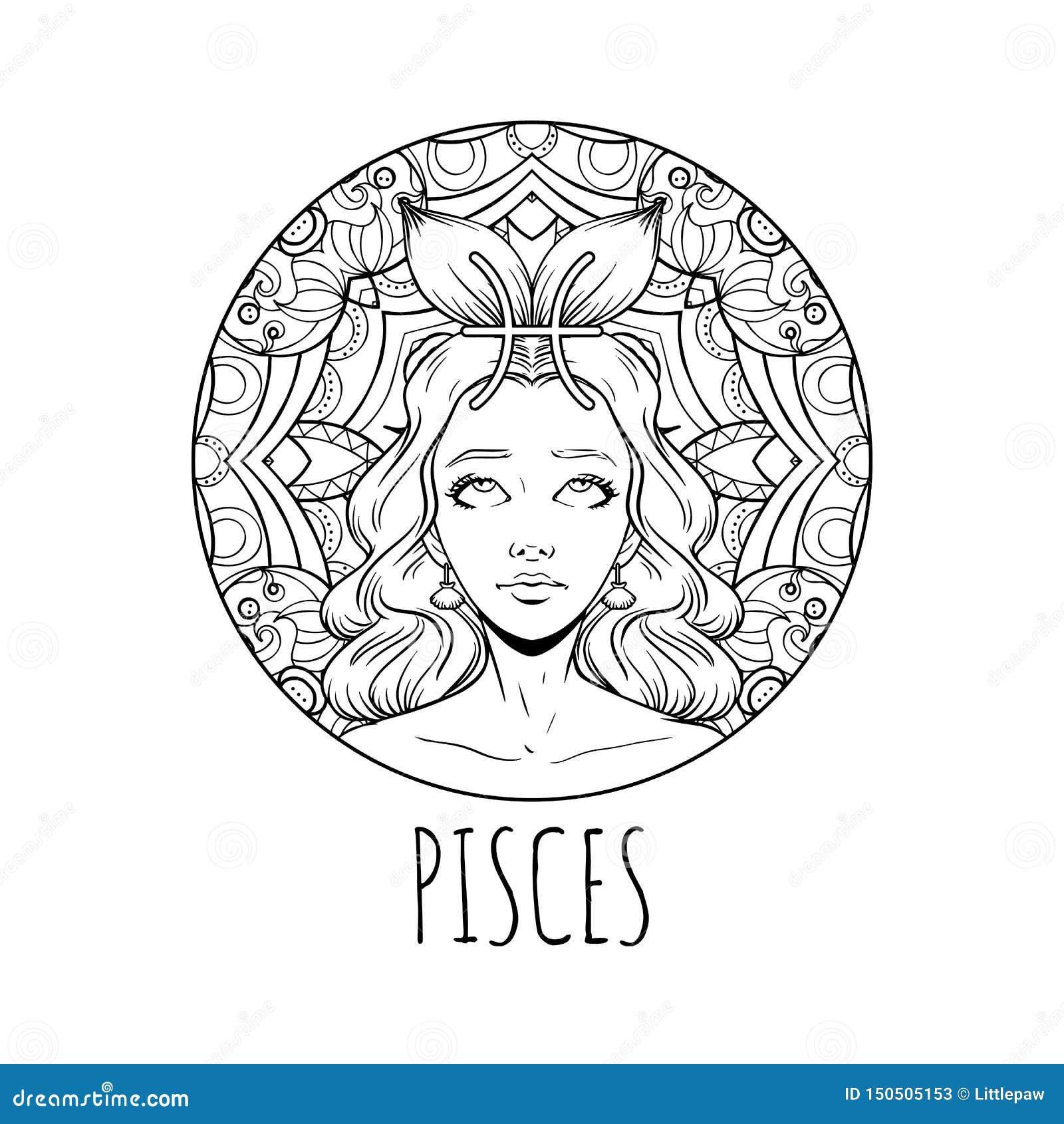 художественное произведение знака зодиака Pisces взрослая